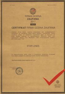 FIRMA GODNA ZAUFANIA 2017 GLOD